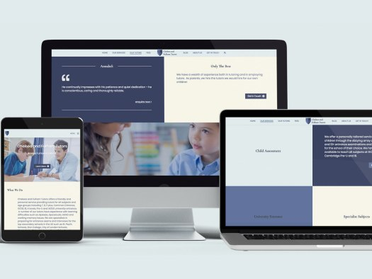 Chelsea and Fulham Tutors Website designed by Hamish Payne