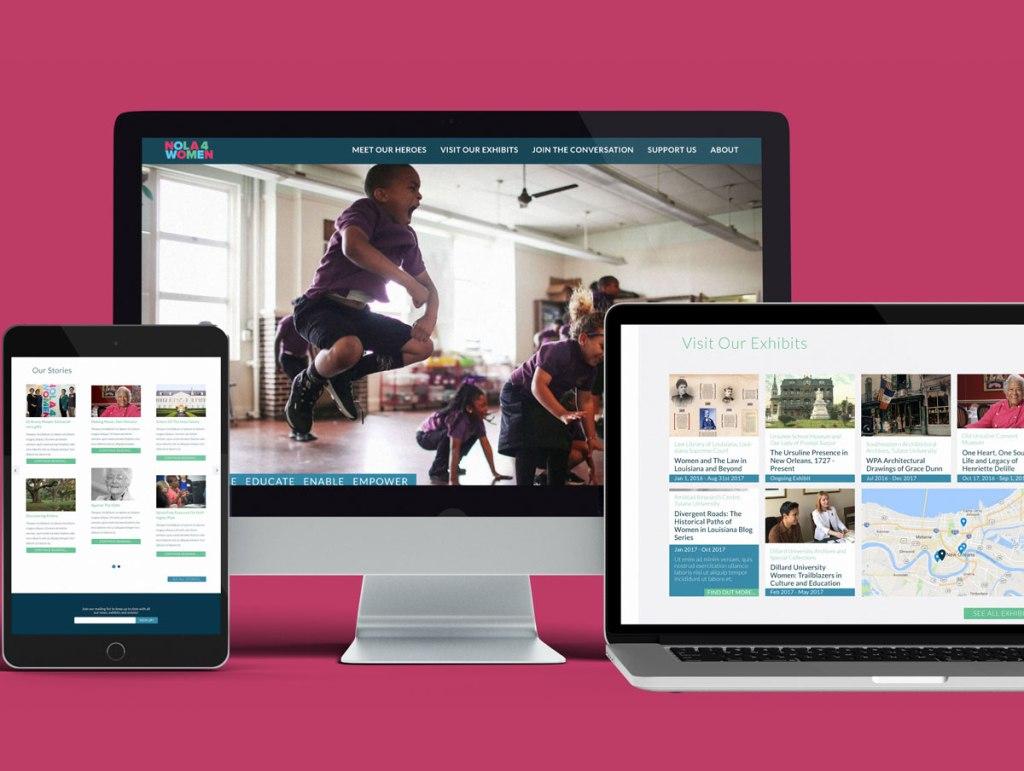 Nola4Women Modular Website designed by Hamish Payne