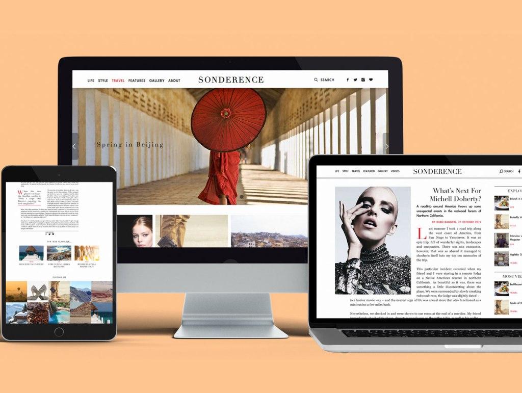 Sonderence Website designed by Hamish Payne